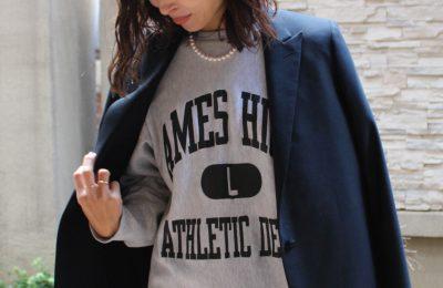 【関西発】ロゴスウェットを最大限女っぽく着る方法