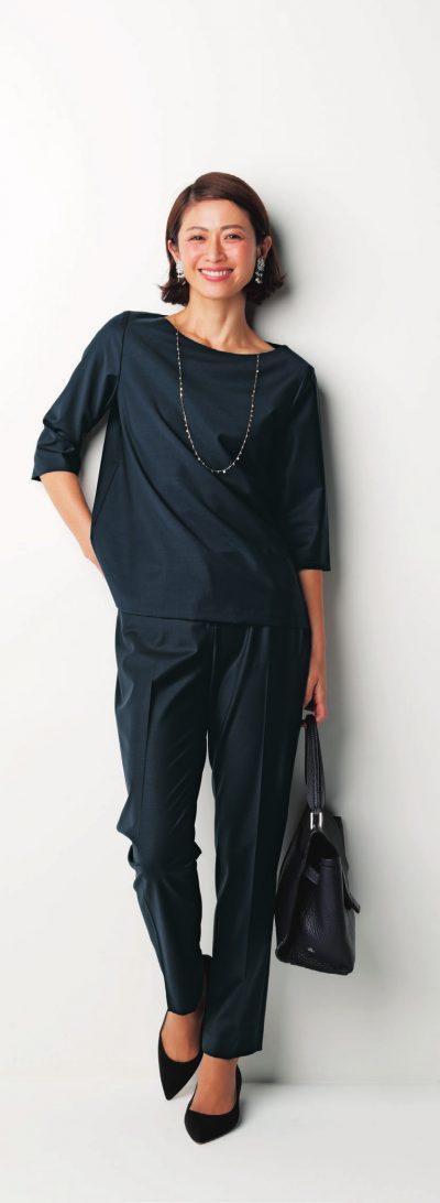 【卒入園コーデ】ハンサムなパンツスタイルは〝女っぽく〟が気分