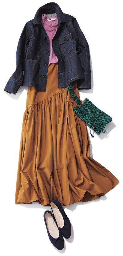 【明日のコーデ】Gジャン×ロングスカート