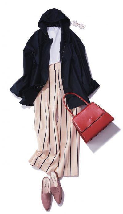 【明日のコーデ】ブルゾン×スカート
