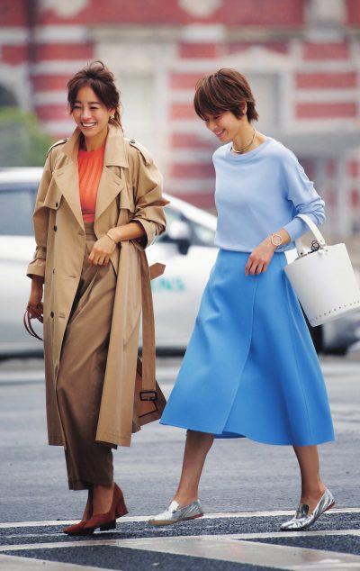 リーマムの通勤服は〝配色で女っぽい〟がちょうどいい