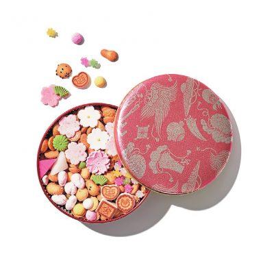 銀座 菊廼舎の冨貴寄「桜色缶」