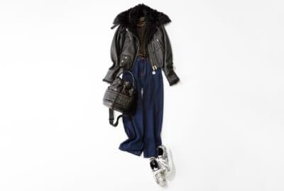 【明日のコーデ】表参道Shoppingは着心地やわらかなレザージャケットで