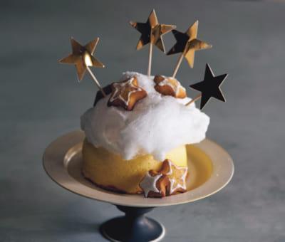 【綿あめのコットンチーズケーキ】市販スポンジの写真映えデコレーション③