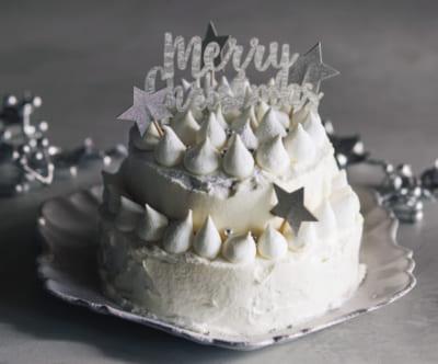 【エンジェルホワイトケーキ】市販スポンジの写真映えデコレーション⑧