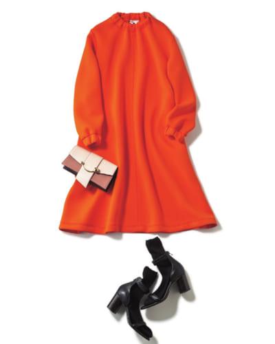 子連れじゃない日のお出かけは眩しいオレンジでテンションUP♡【明日のコーデ】