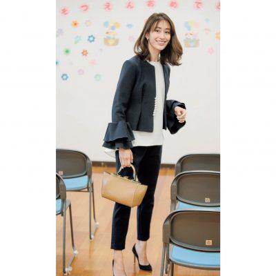卒園式の華やかコーデにYOKO CHANのパンツスタイルが新鮮!【明日のコーデ】