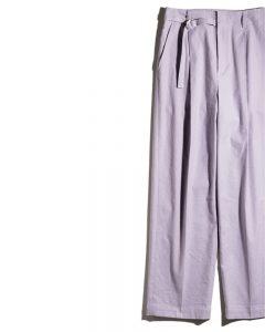 スタニングルアーのラベンダー色ワイドパンツ