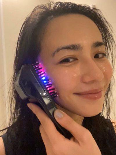 【優木まおみ】電気バリブラシで自律神経も整え中|モデルのおうち美容リレー⑤