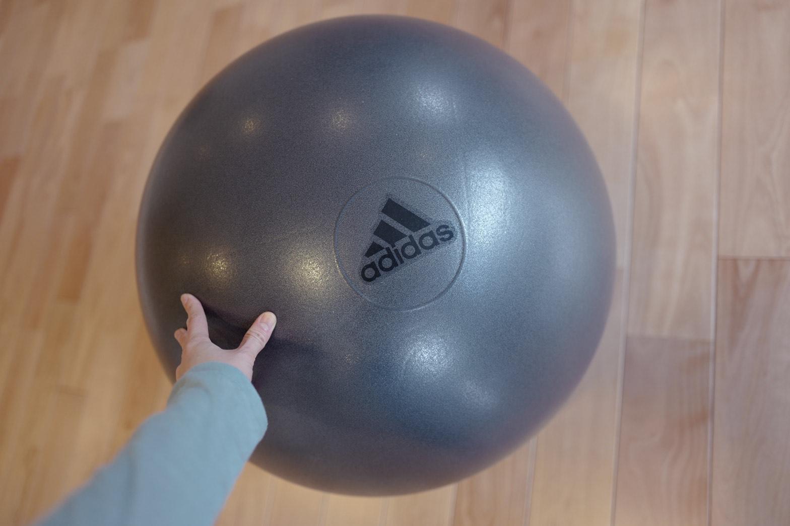 矢野未希子さん愛用のバランスボール。