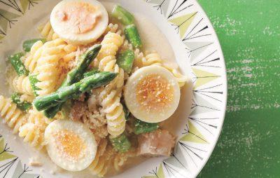 卵とアスパラのサラスパ風パスタレシピ|小堀紀代美さんの和えるだけパスタ4