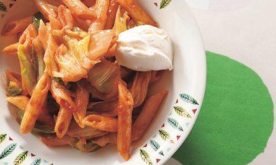トマトペーストでナポリタン風パスタレシピ|小堀紀代美さんの和えるだけパスタ5