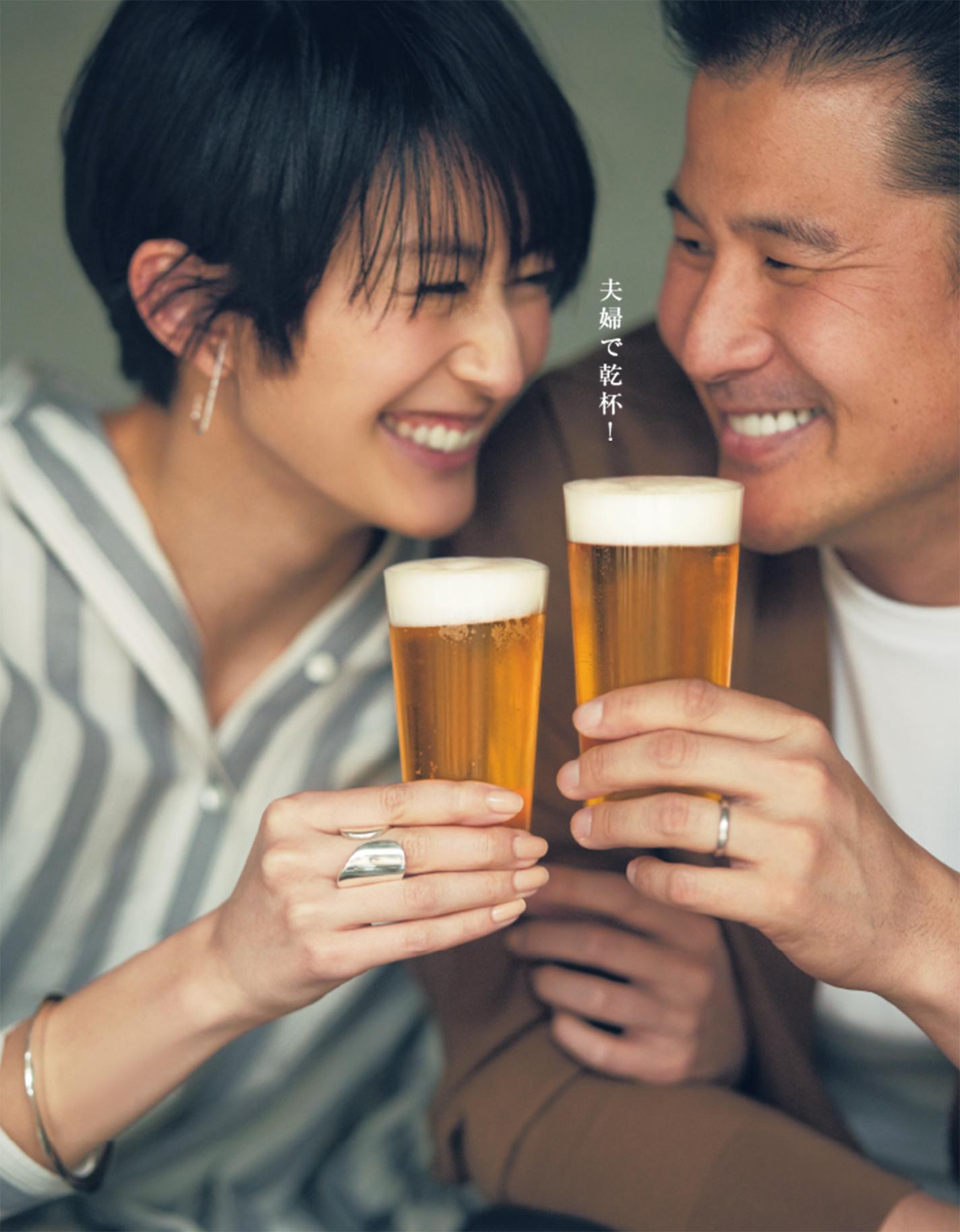 夫婦で乾杯!
