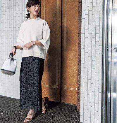 """30代の通勤カジュアルに""""華やかスカート""""が効く!合わせやすいデザイン8選"""