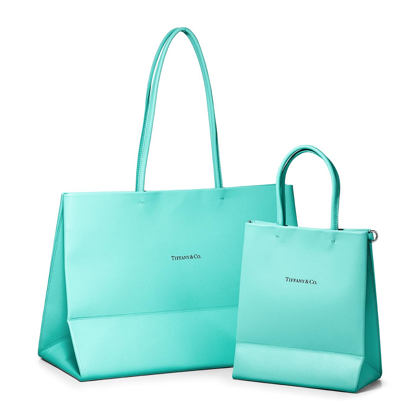 ティファニーのレザーショッピングバッグ ショッピングトートバッグ