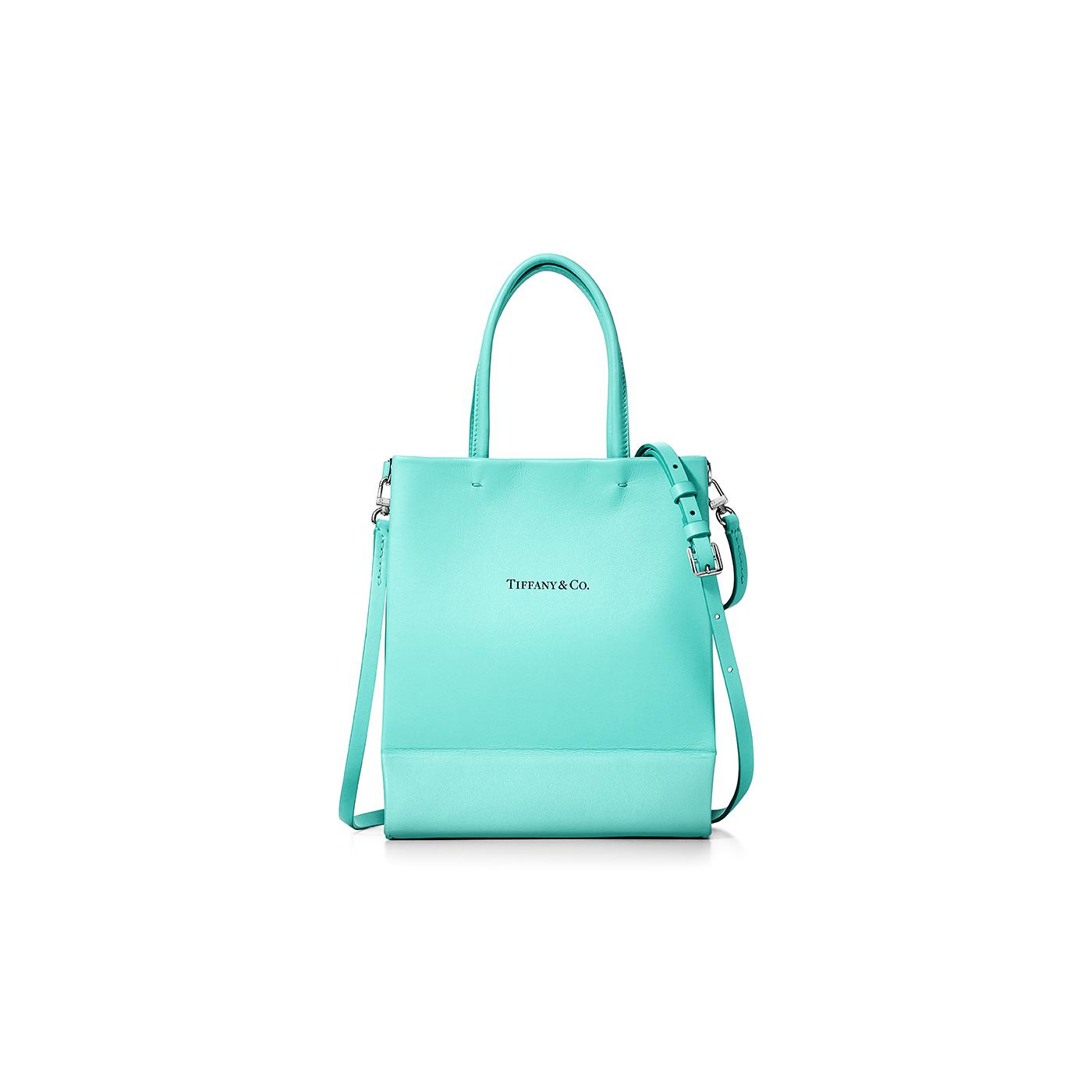 ティファニーのショッピングトート ミニ レザーショッピングバッグ