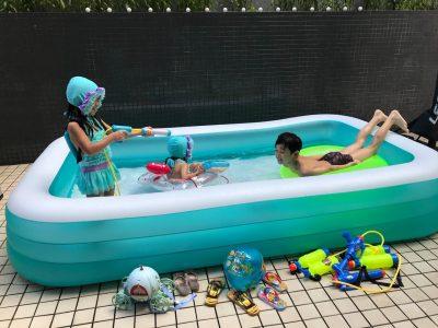 梅雨明け目前!オシャレな人の「ベランダ&おうちプール」5選 すべり台、シャワー付き