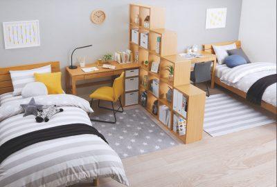 「ニトリ」で発見!レイアウトを成長に合わせて変えやすい子ども机&ベッド
