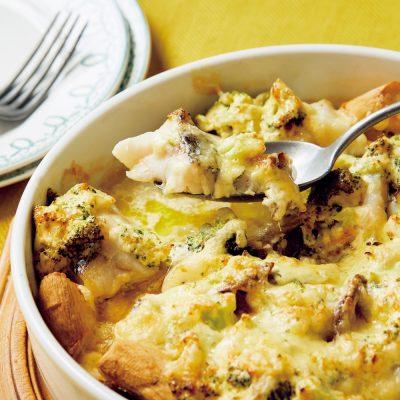 おかずにもなるオーブン焼き「たらとブロッコリーのマヨチーズ焼き」