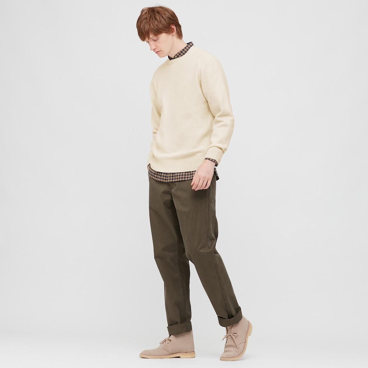 ユニクロ、メンズ、クルーネックセーター