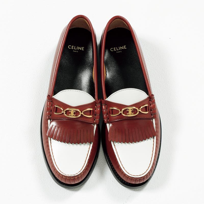 セリーヌのローファー,憧れブランドの今どき靴