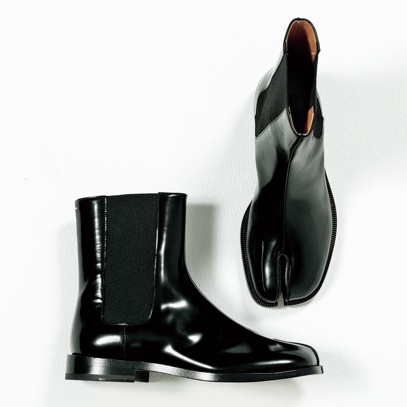 メゾンマルジェラのタビブーツ,憧れブランドの今どき靴