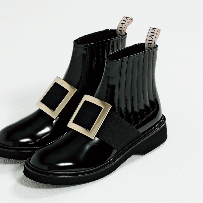 ロジェヴィヴィエのブーツ,憧れブランドの今どき靴