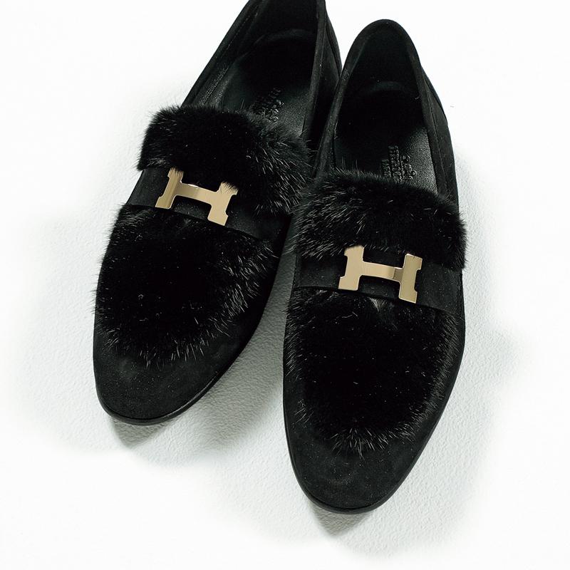 エルメスのローファー,憧れブランドの今どき靴