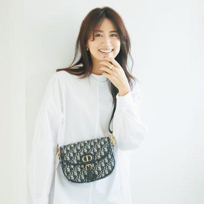 東原亜希さんはDiorのBobbyバッグ愛用「シンプル服のアクセントになります」