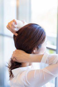 運動会まとめ髪アレンジSTEP2