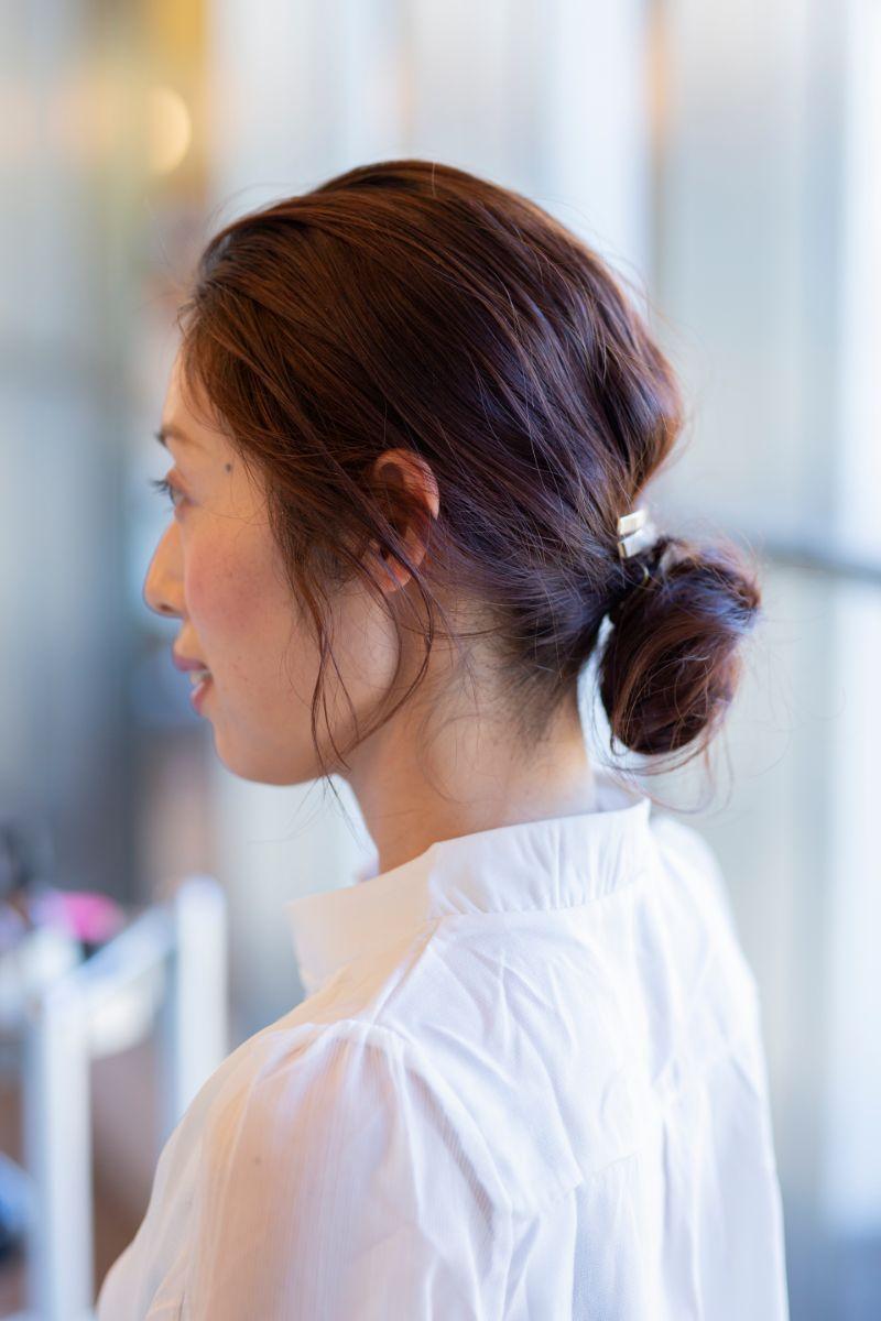 運動会まとめ髪スタイル