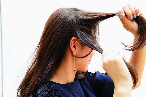 卒園式の髪型、アレンジ2-2
