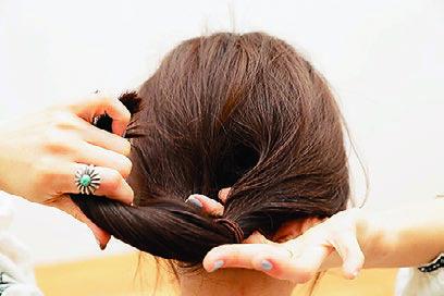 卒園式の髪型、アレンジ3-3