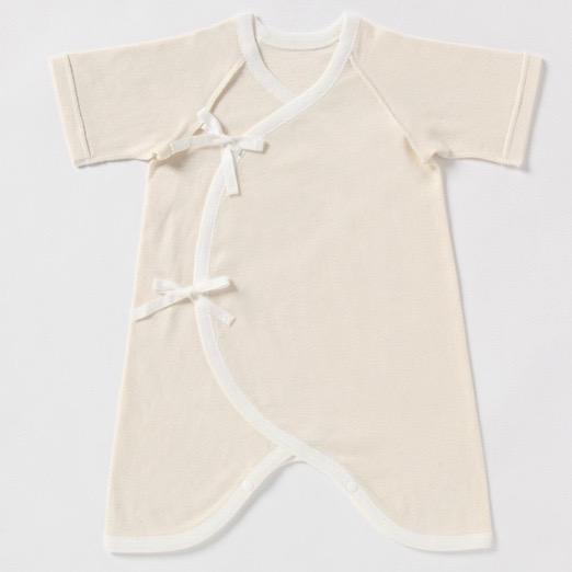 新生児肌着 プリスティン 22世紀ベビーコンビ肌着 / オーガニックコットン