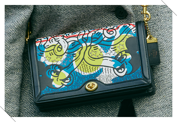 Coach's Mickey and Keith Haring Collection Riley クロスボディ