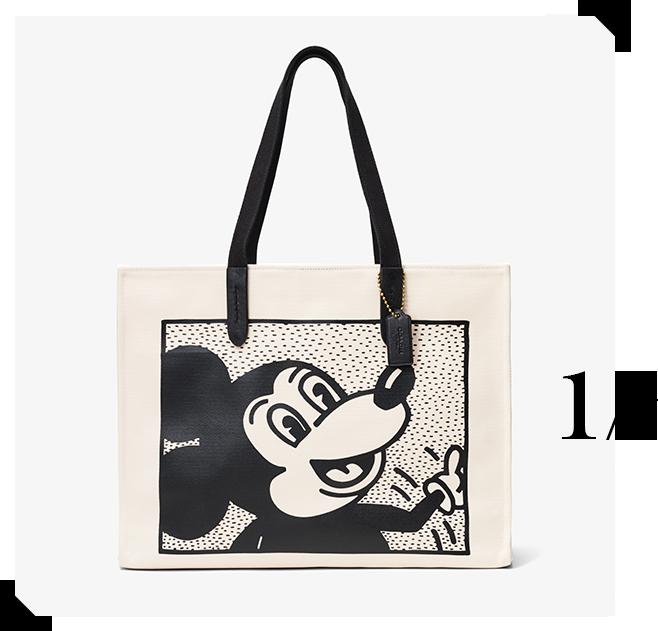 トートバッグ「Coach's Mickey and Keith Haring Collectionトート42」