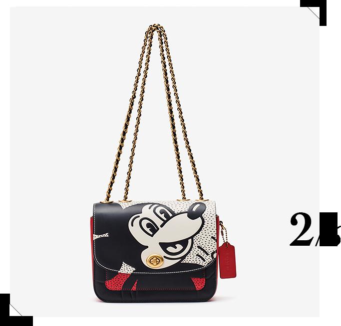 ショルダーバッグ「Coach's Mickey and Keith Haring Collection Madison ショルダー バッグ18」