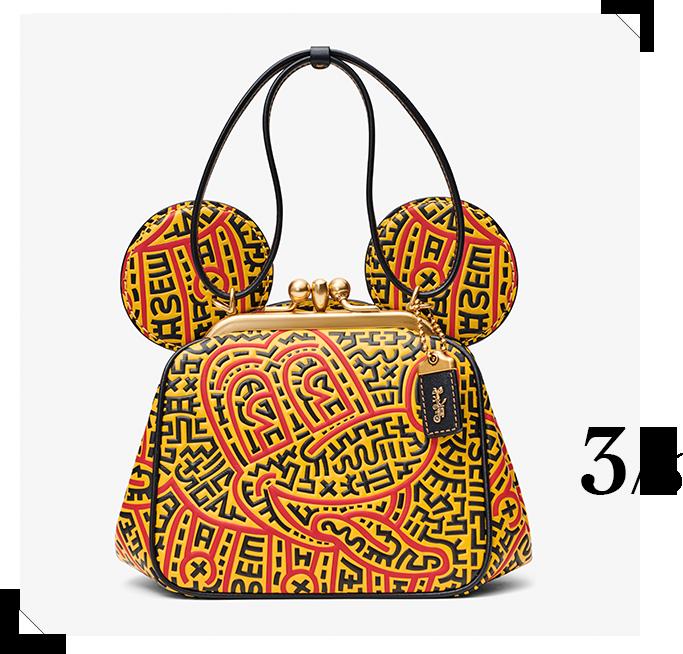 バッグ「Coach's Mickey and Keith Haring Collection Kisslock バッグ」