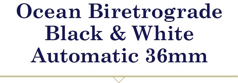 Oscean Biretrograde Black & White Automatic 36mm