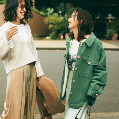 公園ボトムスにサテン素材!30代の光沢パンツ・スカート8選