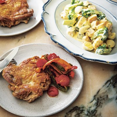 【2品献立】サルボ恭子さんの「皮パリ!チキンとヨーグルトサラダ」