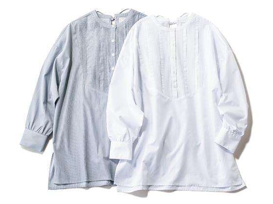 バックリボン タックドレスシャツ