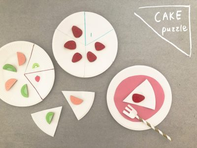 子どもが数を覚え始めたら「紙皿ケーキ」でパズル遊び!