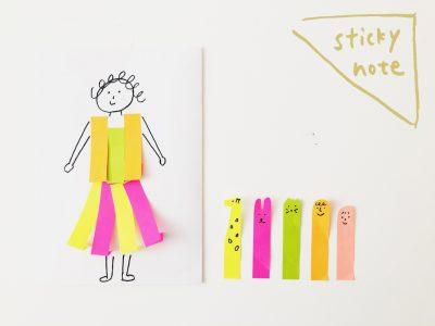 小さい子も喜ぶ!付箋でできる6つの簡単遊び