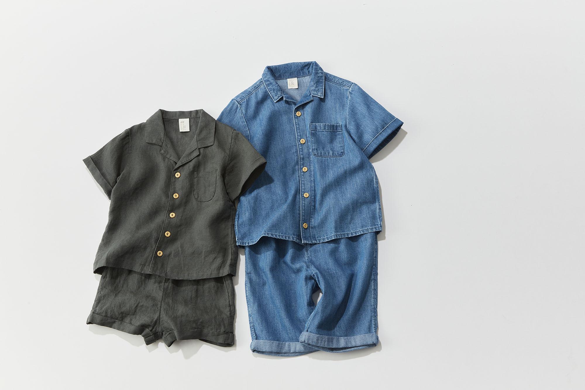 H&M、男の子コーデ、デニムセットアップ