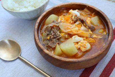 20分で作れる具沢山スープ!「牛と大根の韓国風スープ」