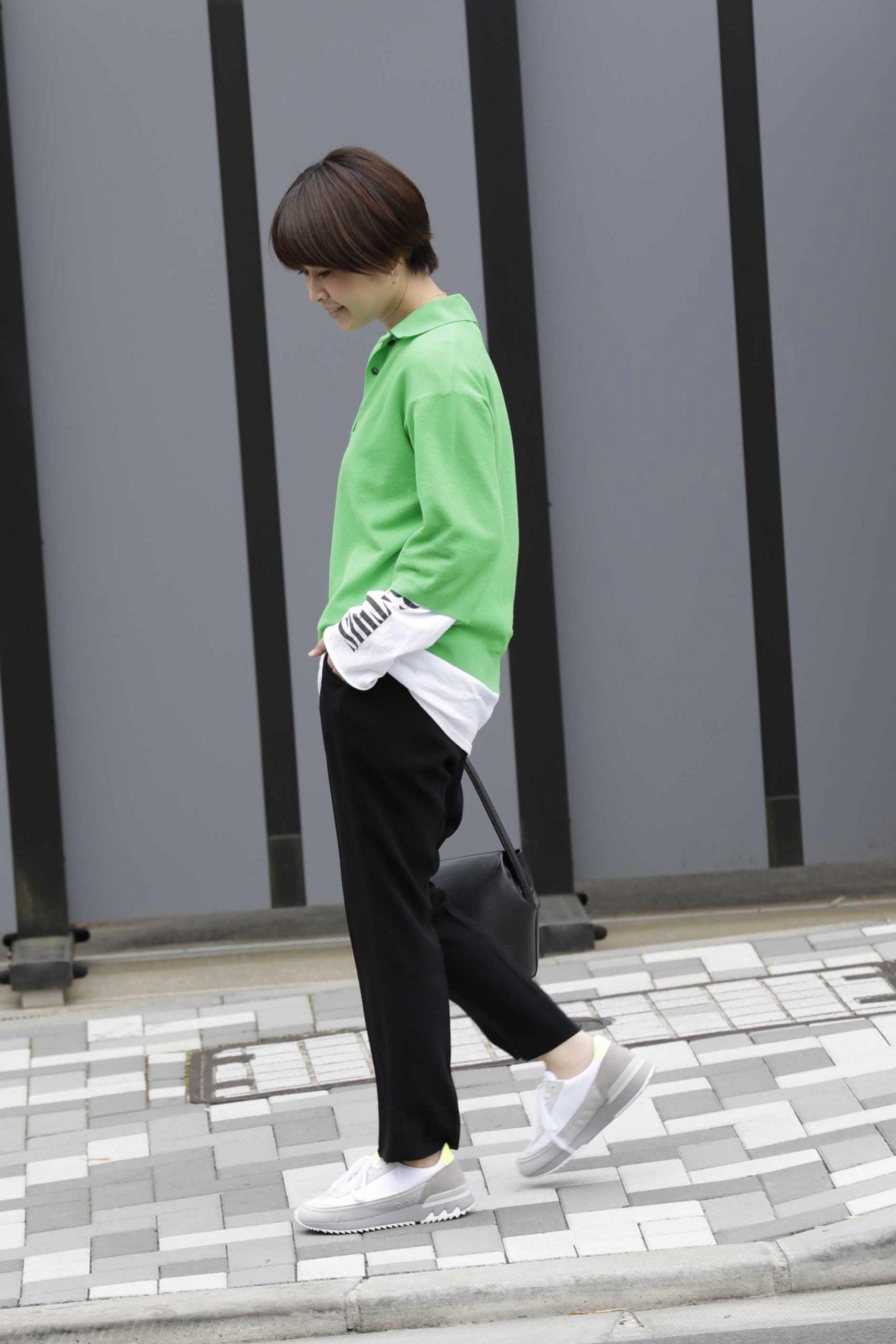 Onitsuka Tiger(オニツカタイガー)のHSINTIの蛍光イエローを履いたスニーカーコーデ
