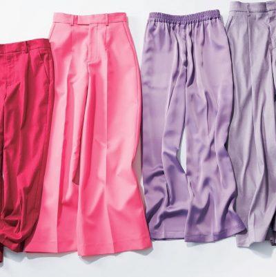 【瞬間着映えならピンク&パープル】華やかでも浮かないパンツ5選