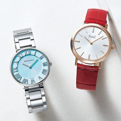 カラー時計ならジュエリーブランド!上質を知る大人のインパクト小物