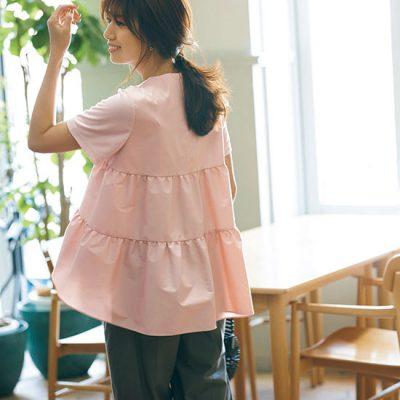 大人ピンクの主役級Tシャツ!洗濯OKでヘビロテマスト【明日のコーデ】